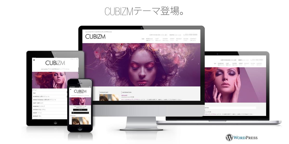 風俗サイト用Wordpressテーマ CUBIZM登場。